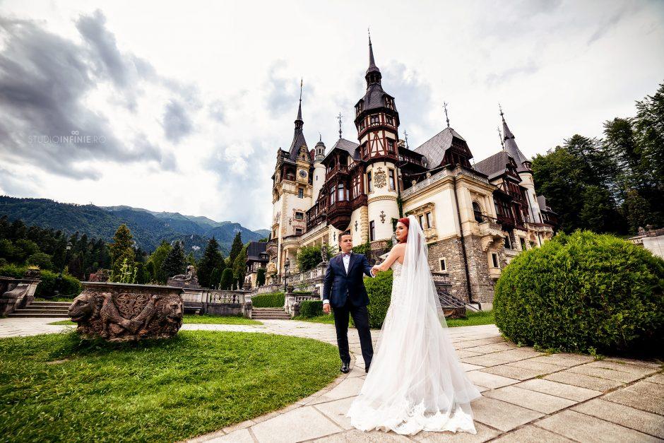 Sedinta foto dupa nunta la Peles